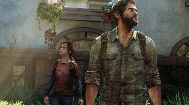 Ellie and Joel walking around
